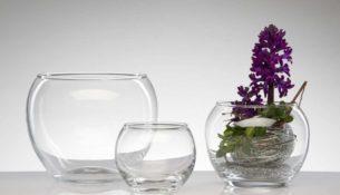 vaso di vetro: arredare con stile
